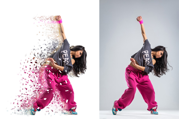 Splatter Dispersion Photoshop Action example image 3