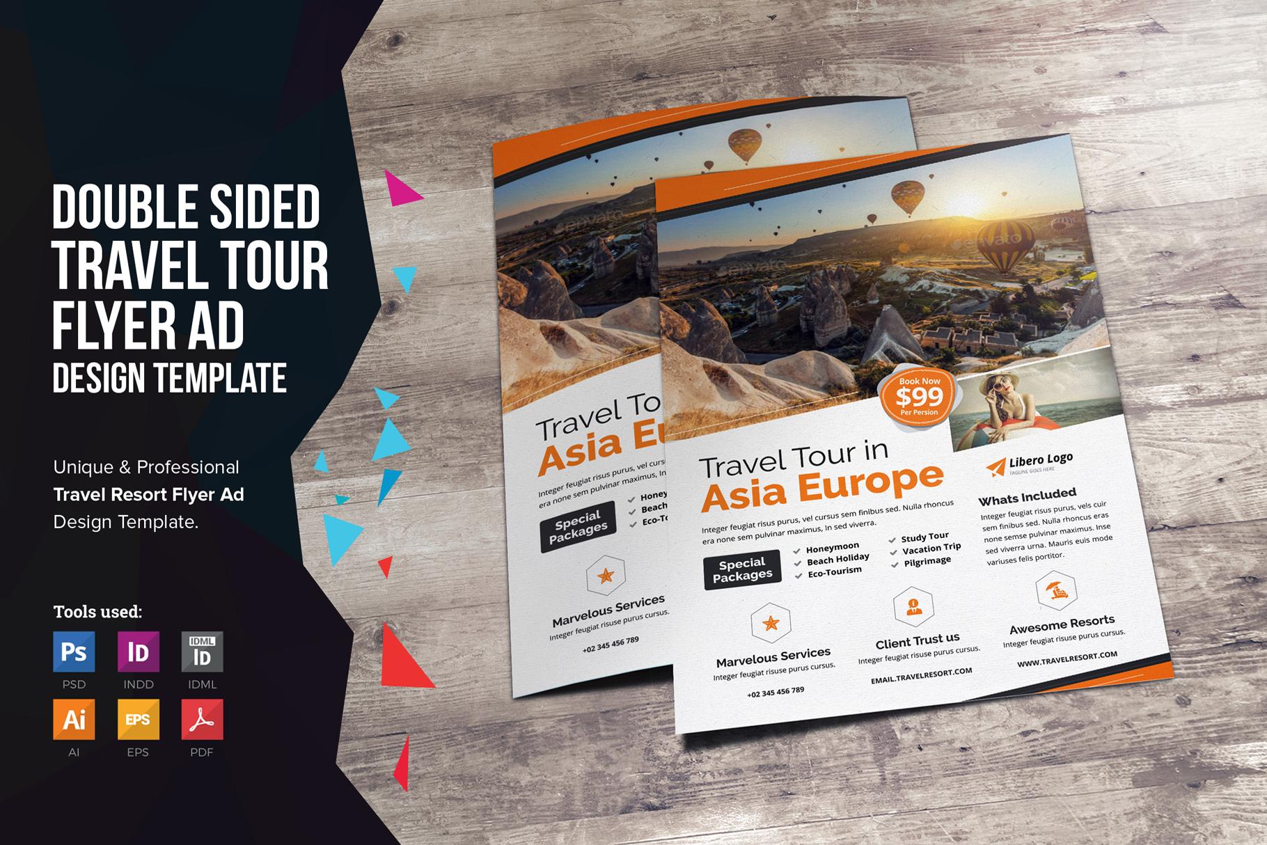 Travel Resort Flyer Design v2 example image 1