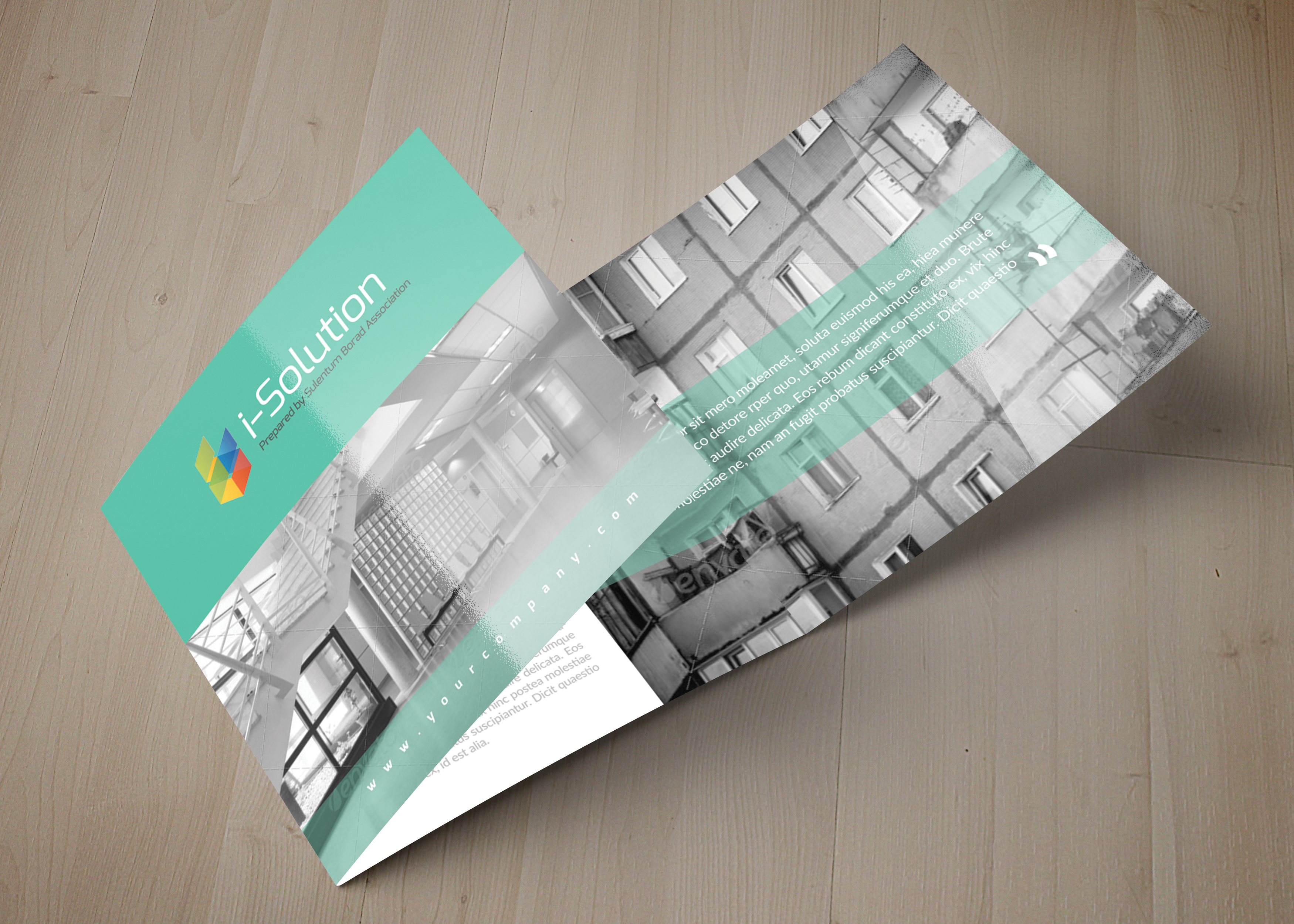 Business Solution Square Trifolde Brochure example image 6