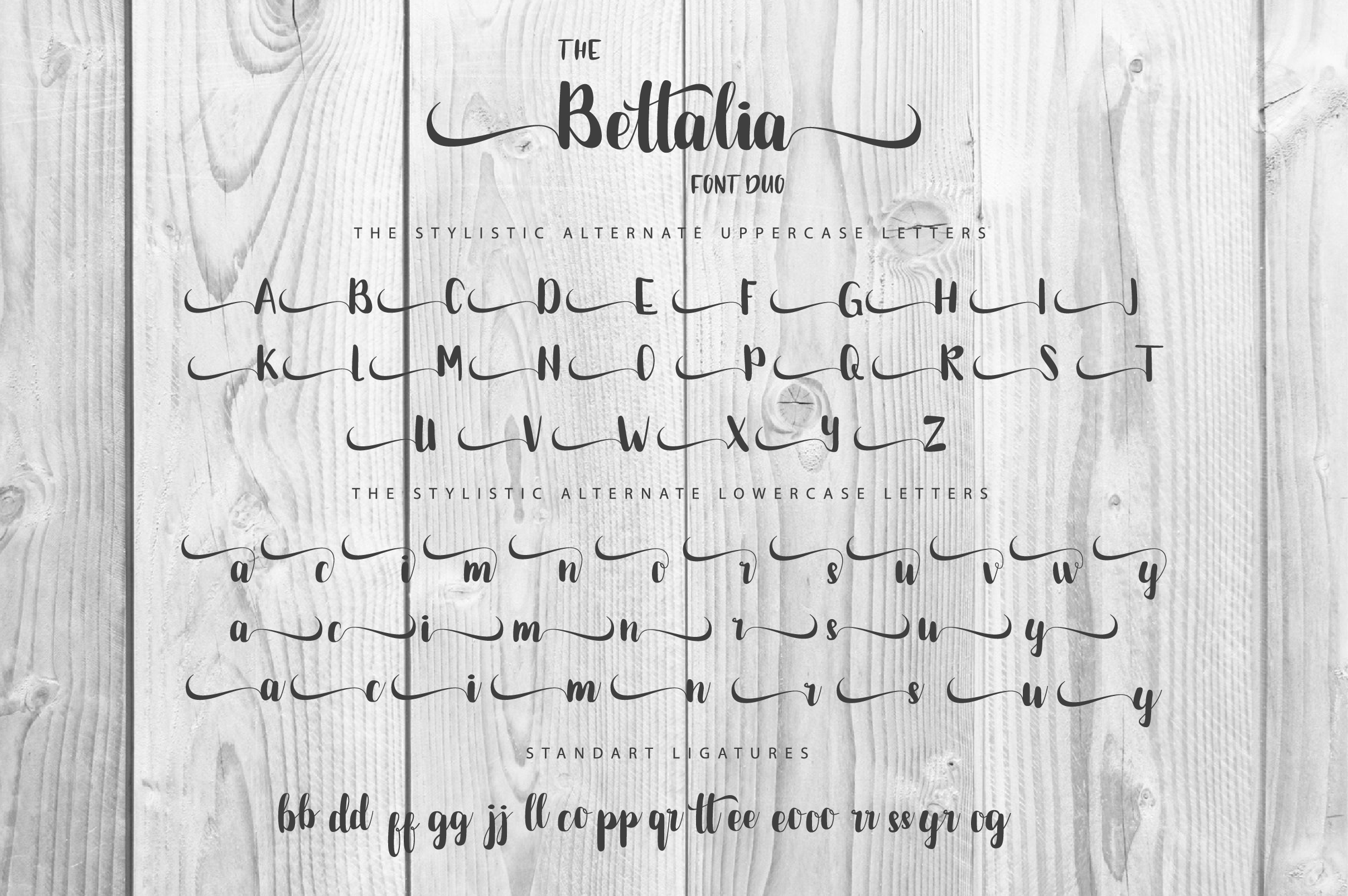 The Bettalia Font Duo example image 3