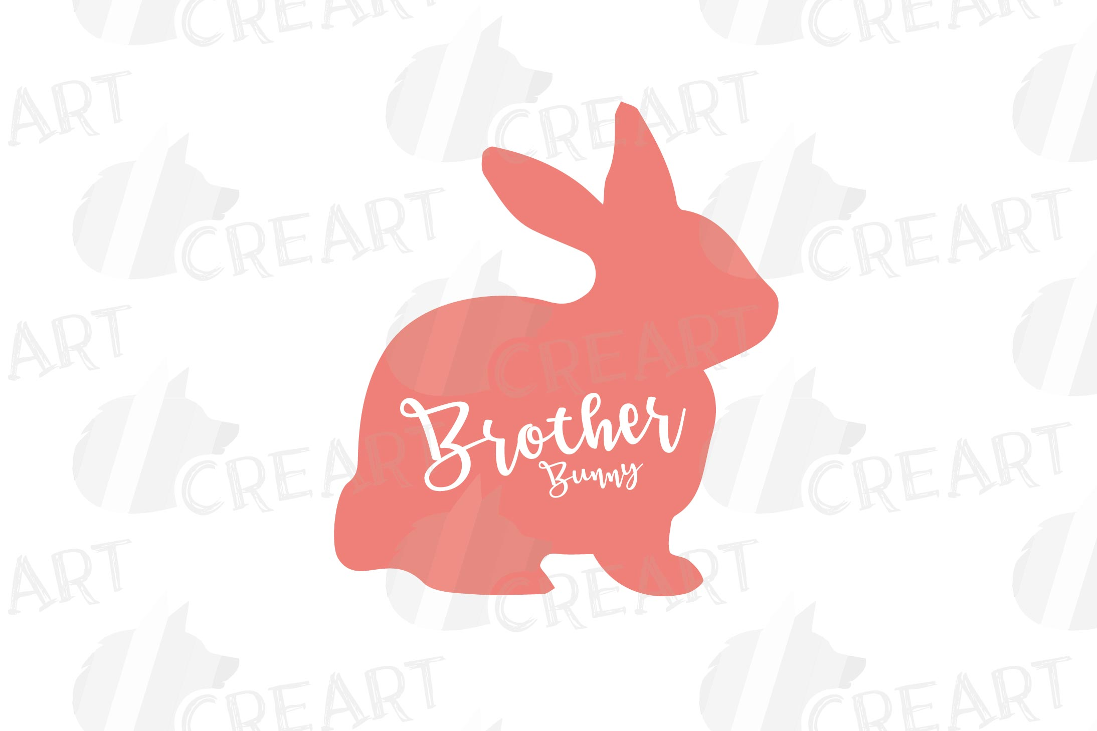 Rabbit family silhouettes, bunny silhouette svg cutting file example image 19