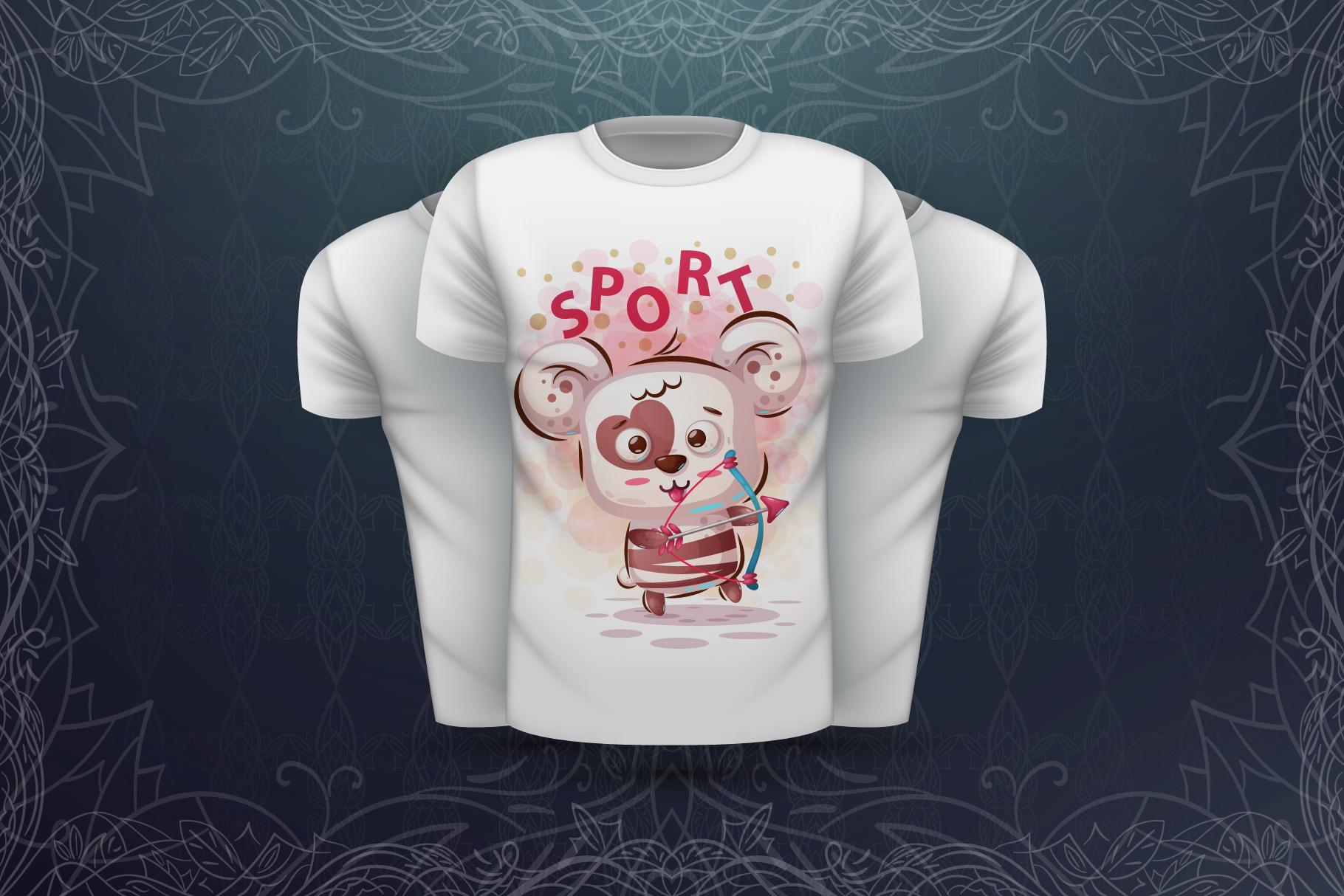 Set cute panda - for print t-shirt example image 3
