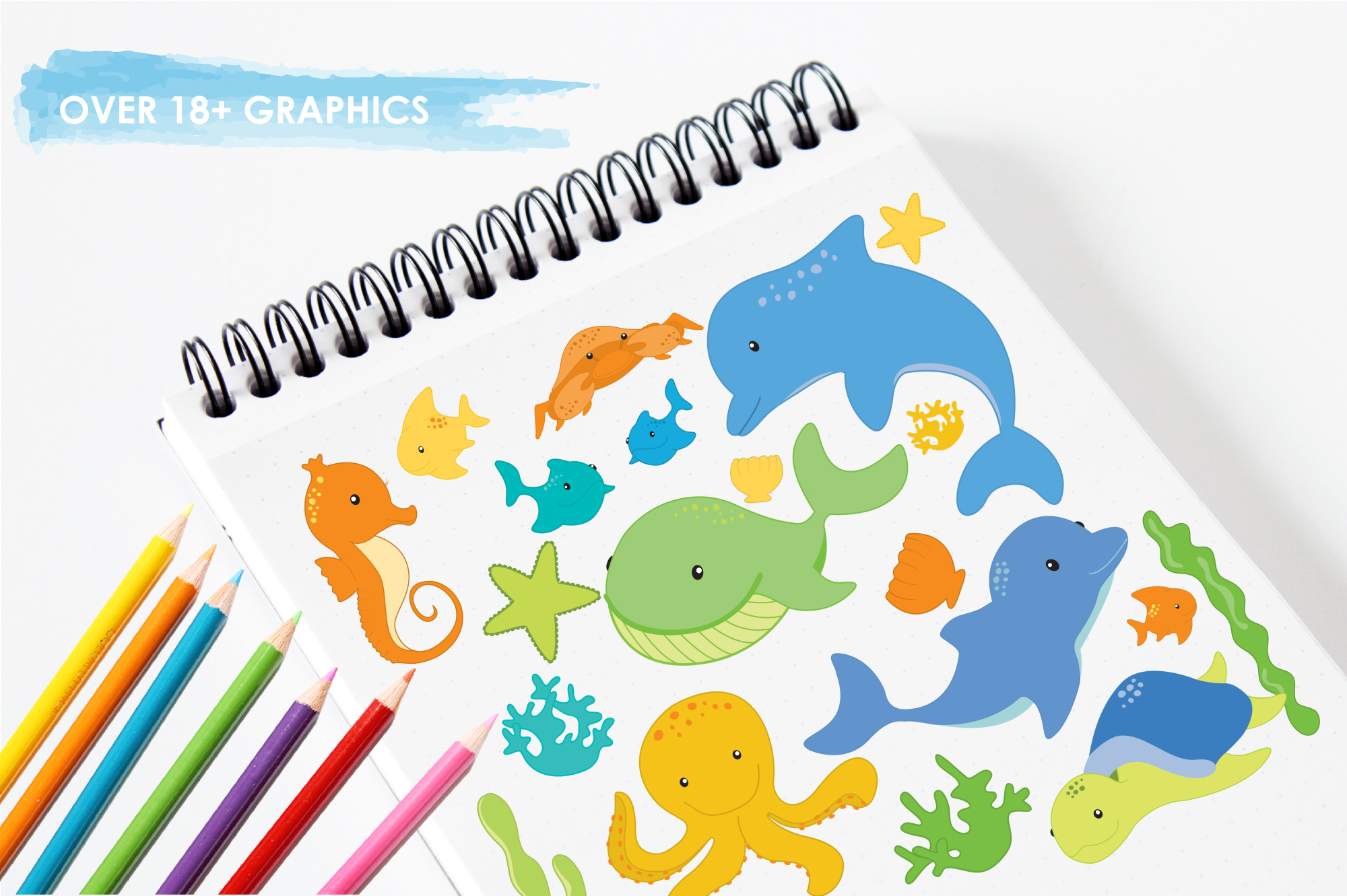 Sea Creatures Boys graphics and illustrations example image 3