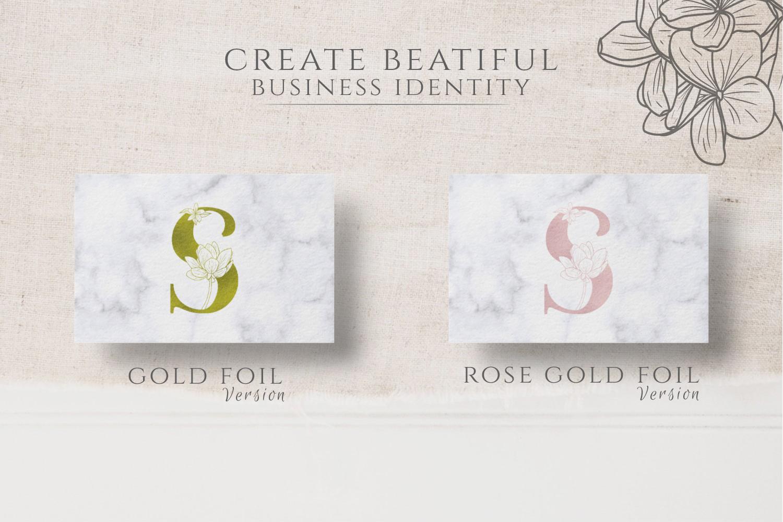 Adenium Font Gold & Rose Gold Foil example image 4