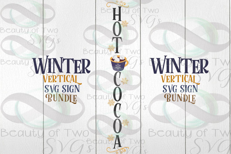 Winter Vertical svg Sign Bundle, 4 Winter svg designs example image 5