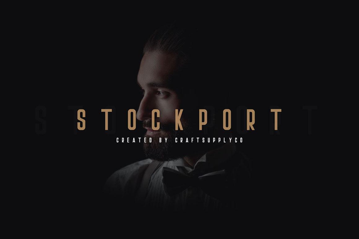 Stockport Font + Bonus Logo | Free Font Download