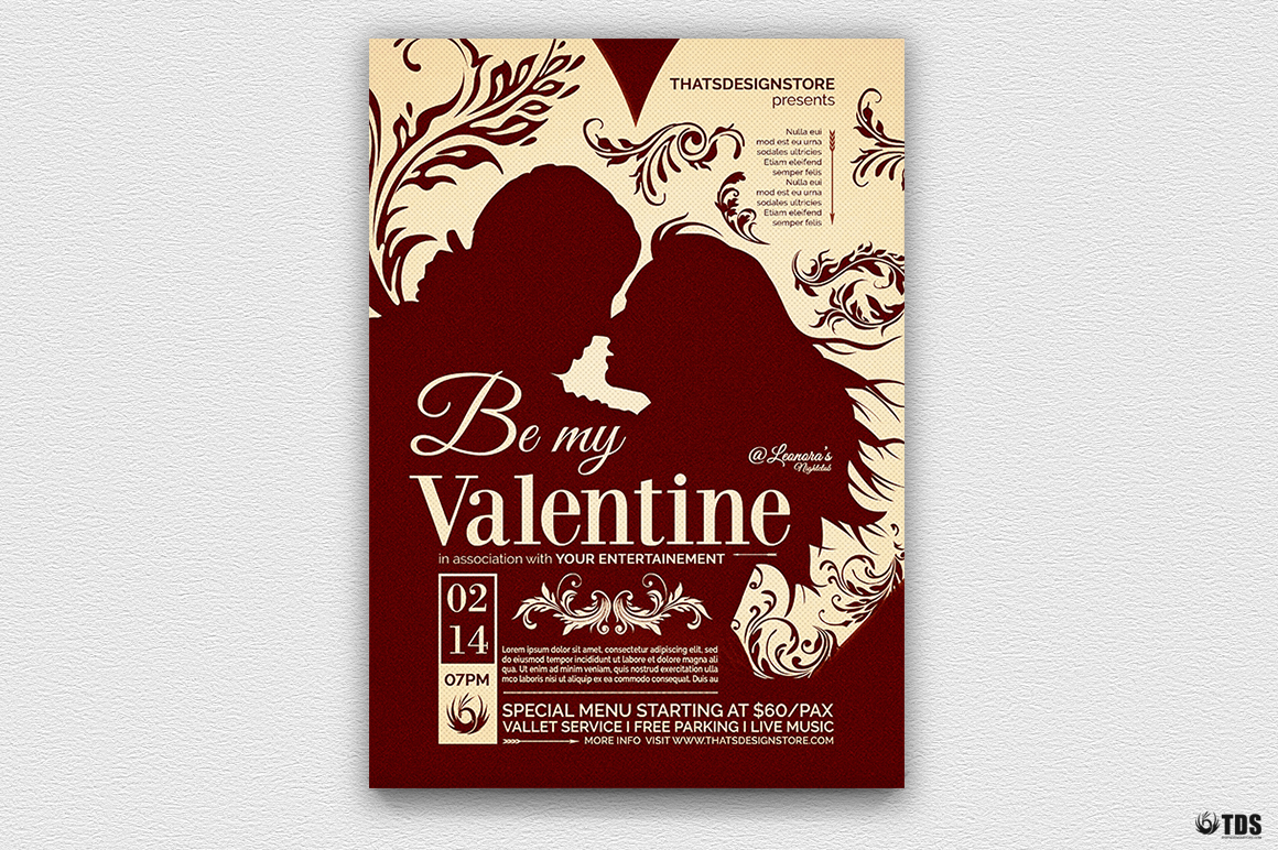 Valentines Day Flyer Template V6 example image 2