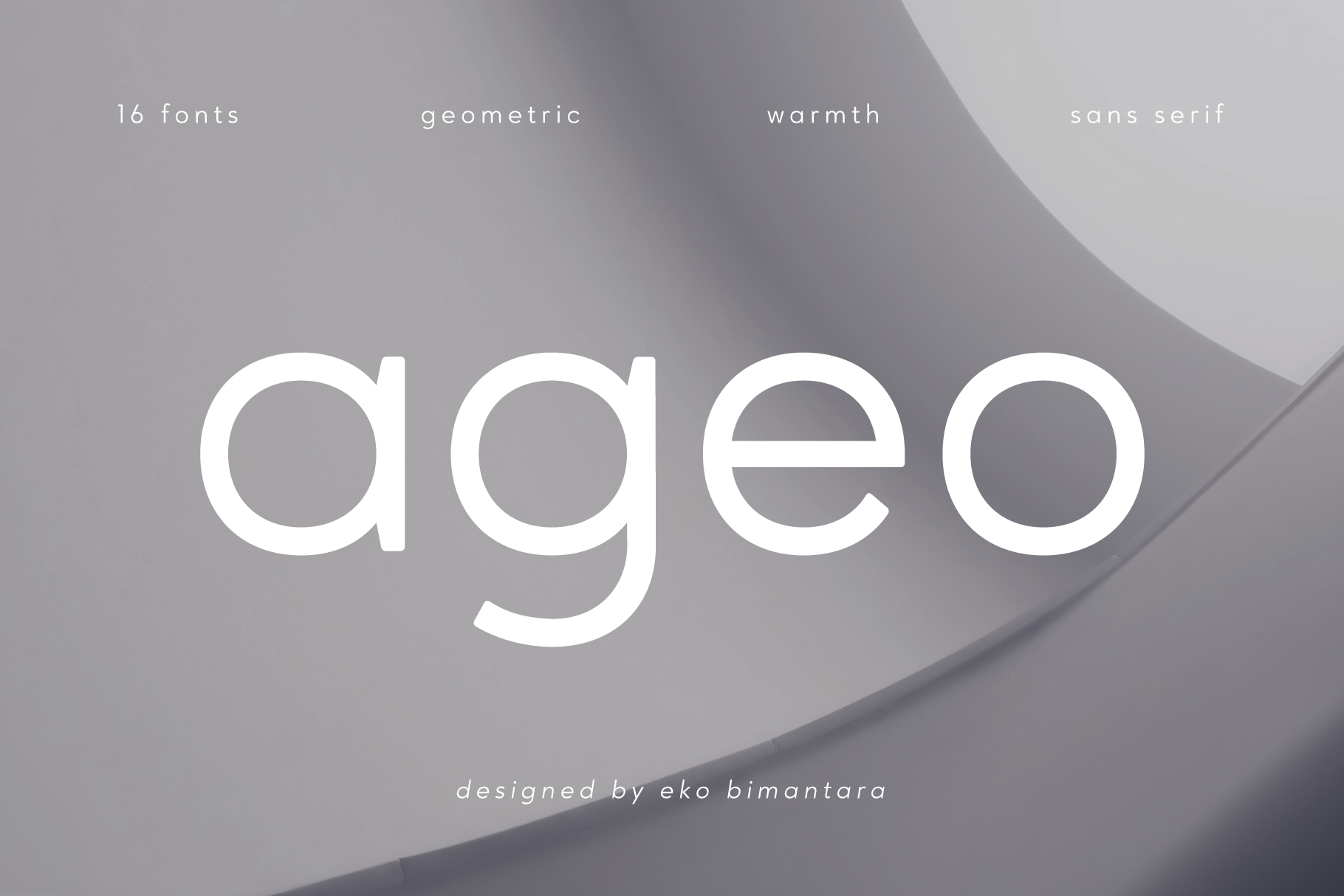 Ageo geometric sans font family example image 1