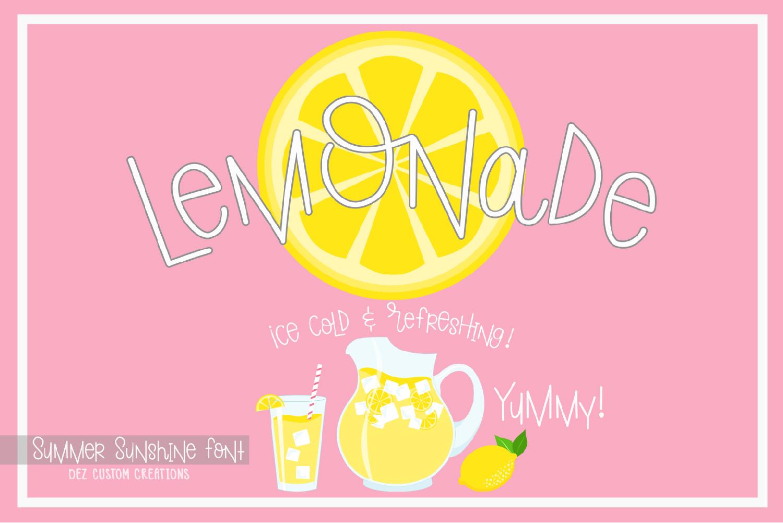 Summer Sunshine Hand Lettered Font  example image 2