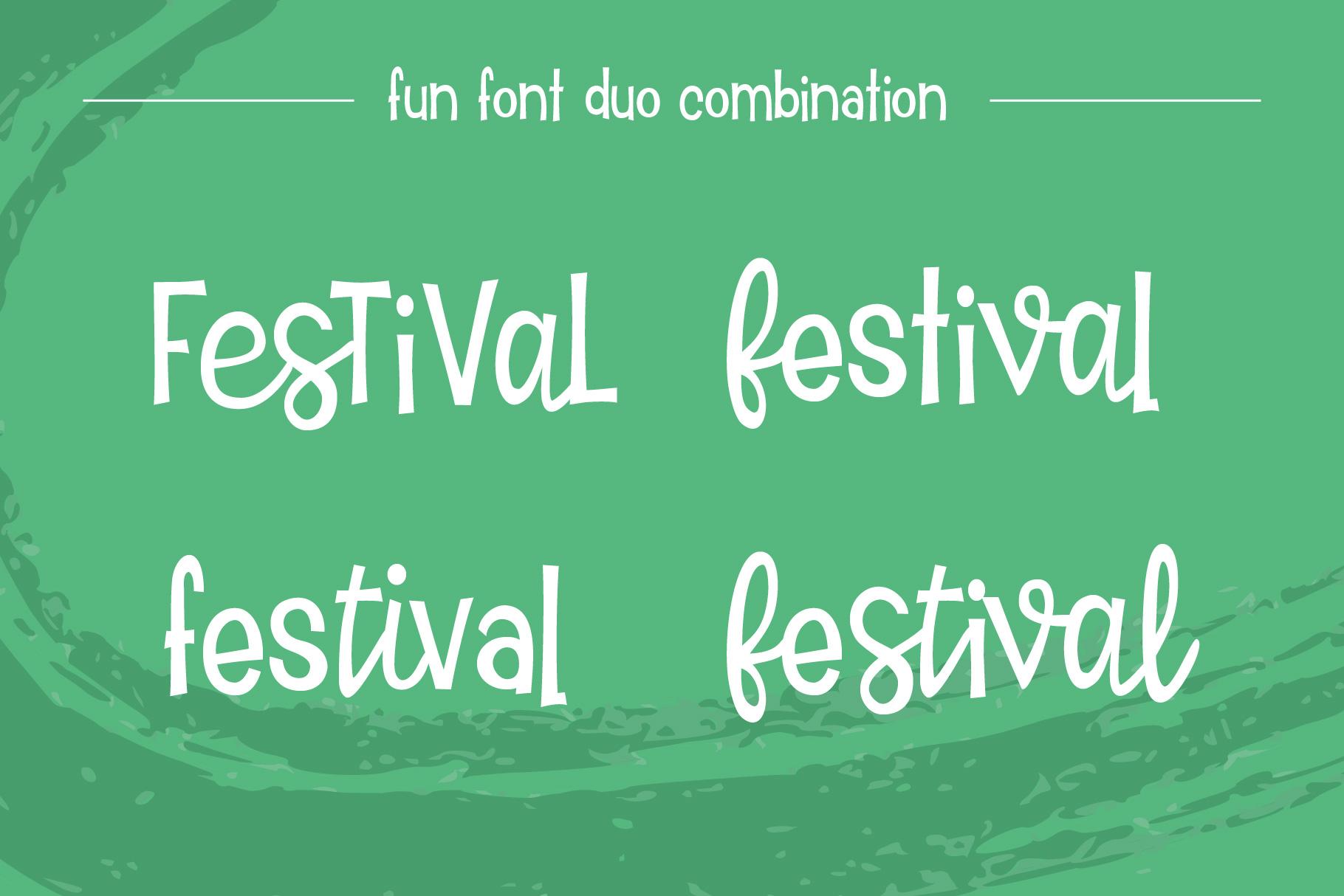 Tiki Tiki Festival Font Duo example image 2