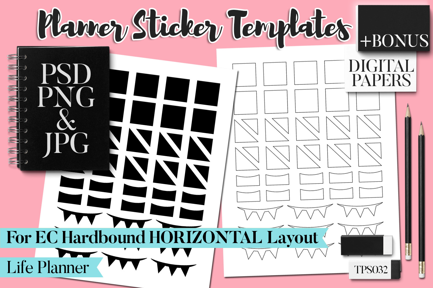 Planner Stickers Templates - Bundle Vol. 11 example image 9
