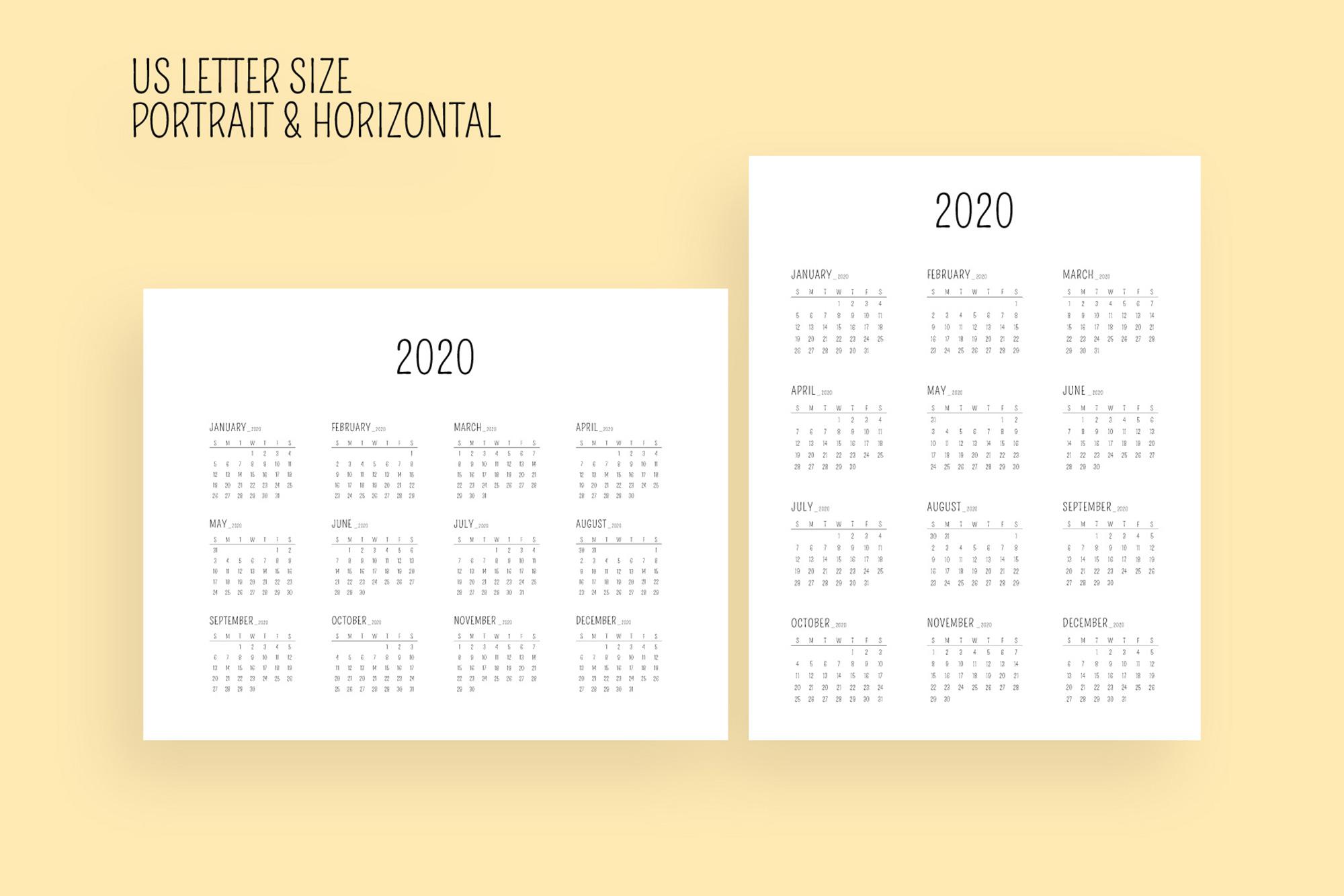 Minimal Calendar 2020 Template example image 8