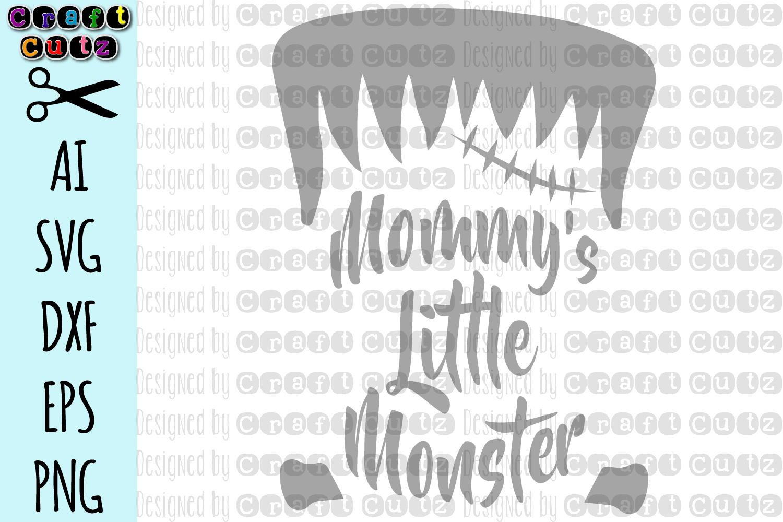 Mommy's Little Monster SVG, Frankenstein Cut File example image 2