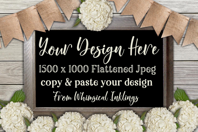 Hydrangea Wedding Sign Mock Up example image 1