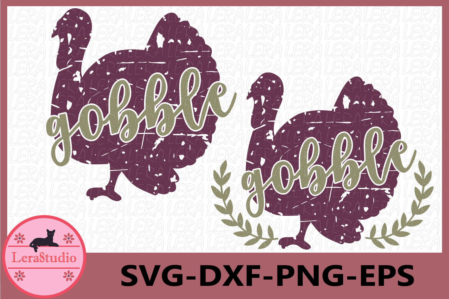 Gobble SVG, Grunge Svg, Fall Svg, Autumn Svg, Turkey SVG example image 1