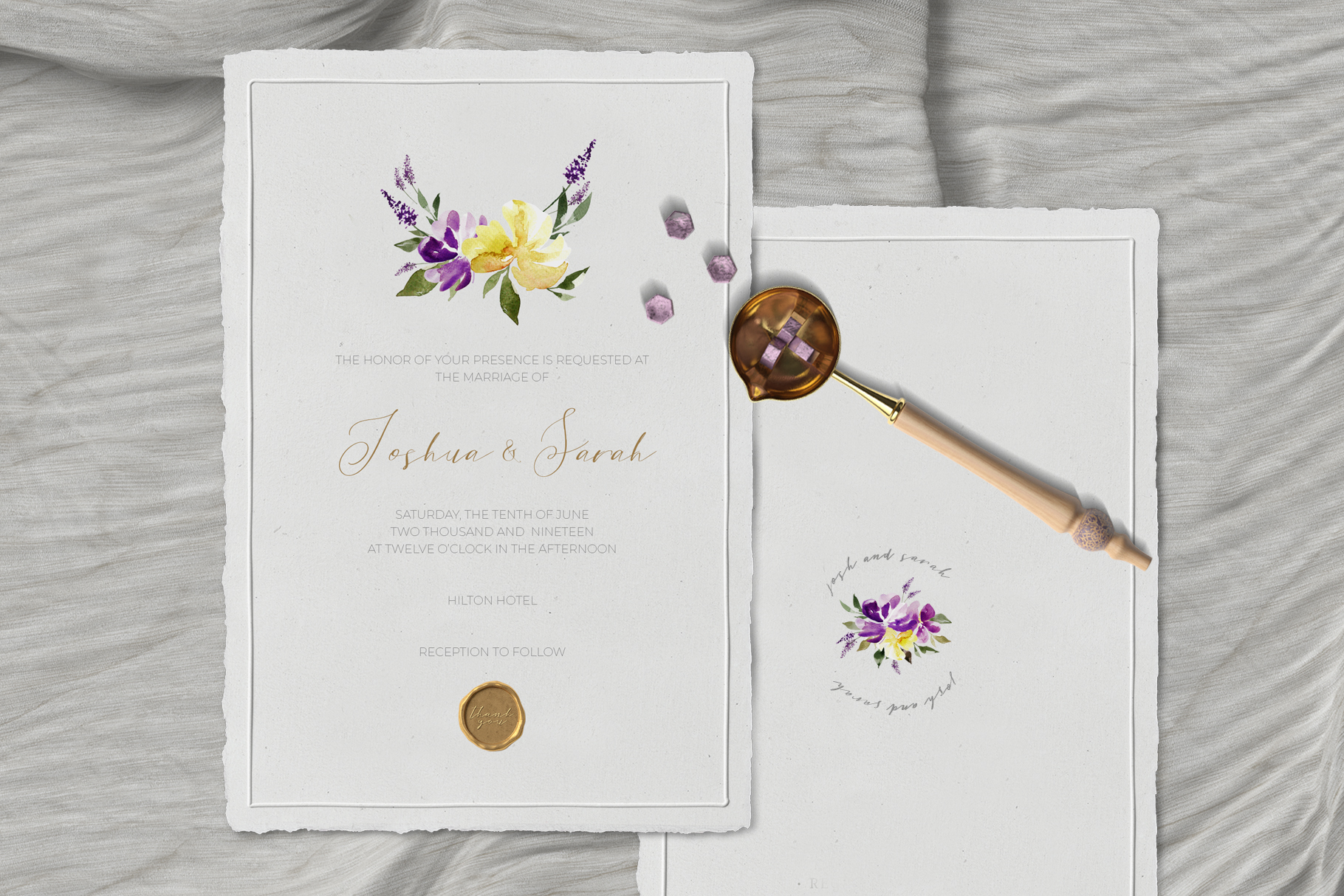 Watercolor Purple Lavender Plum Floral Clipart example image 5