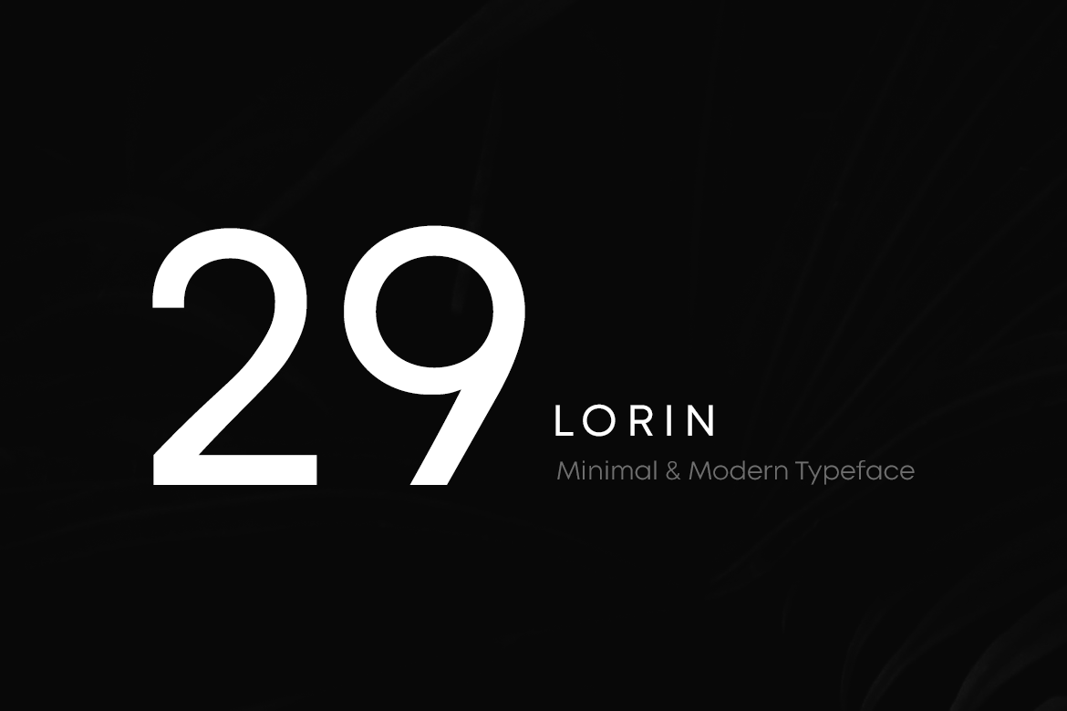 LORIN - Geometric Typeface & Web Fonts example image 2