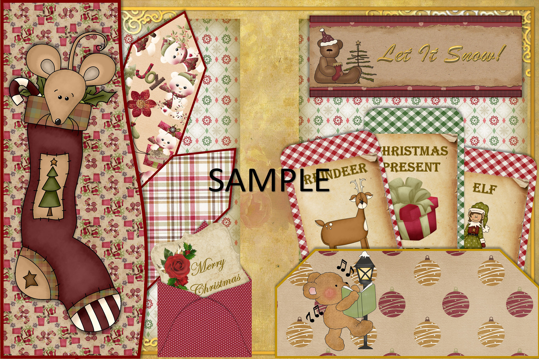 Children's Christmas Journal Kit with Free Ephemera example image 10