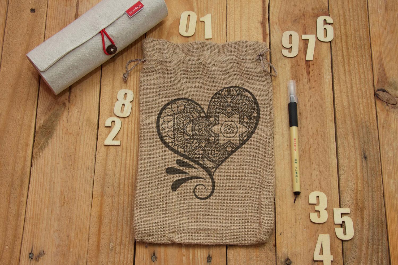 Heart Mandala Monogram Valentine's Day example image 2
