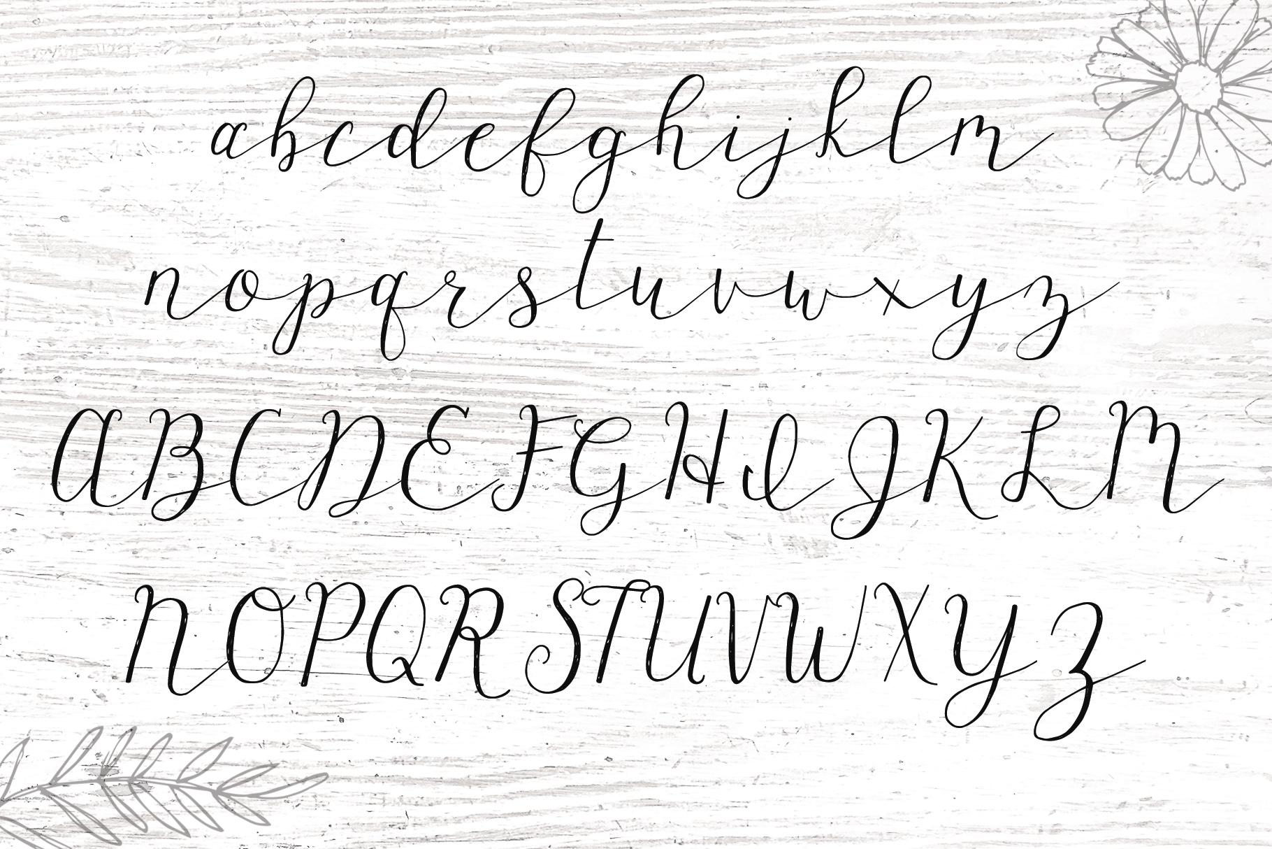 Wagonwheel Delicate Handwritten Script Font example image 7