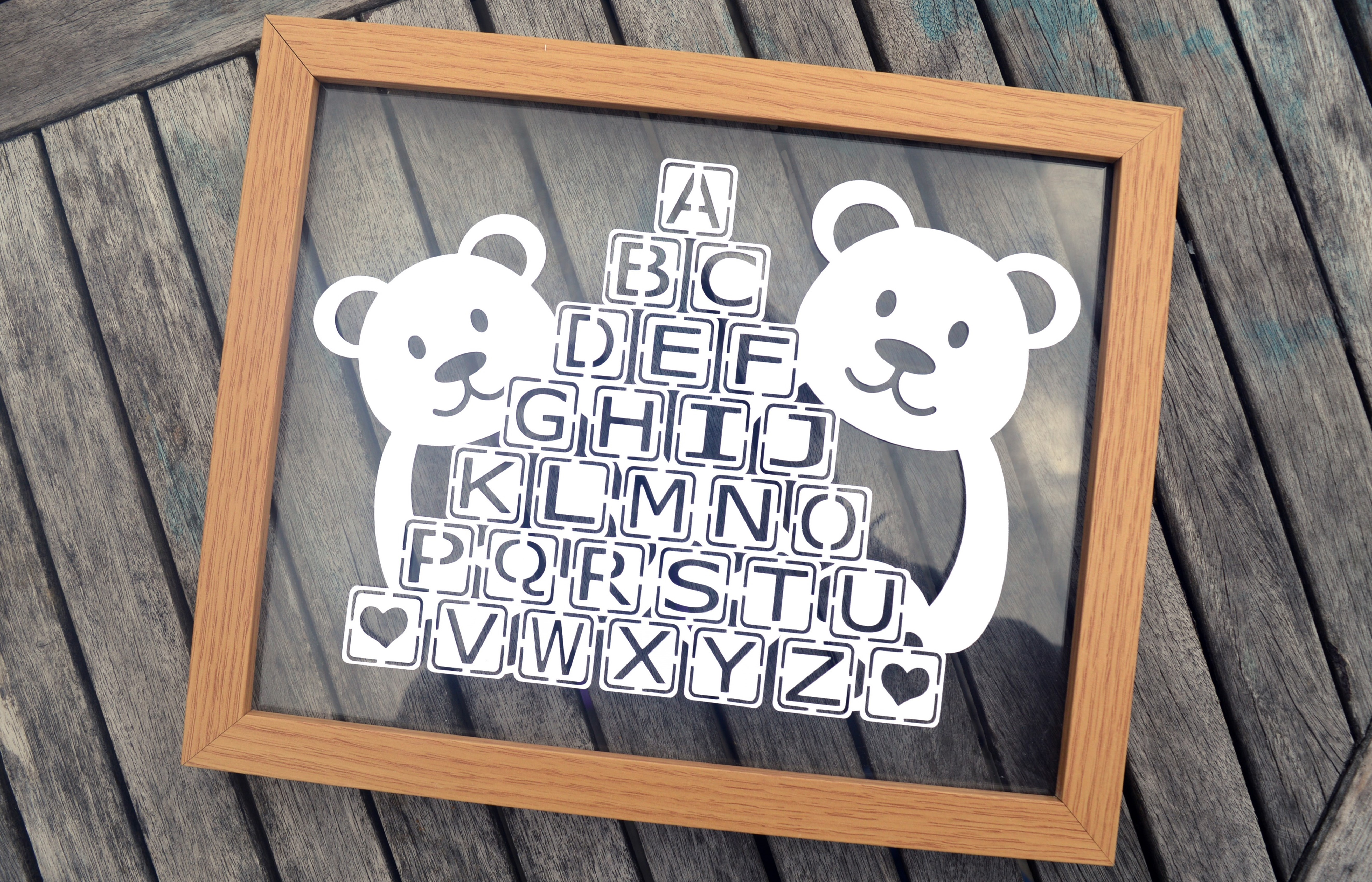 Teddy Bear Paper Cut SVG / DXF / EPS Files example image 2