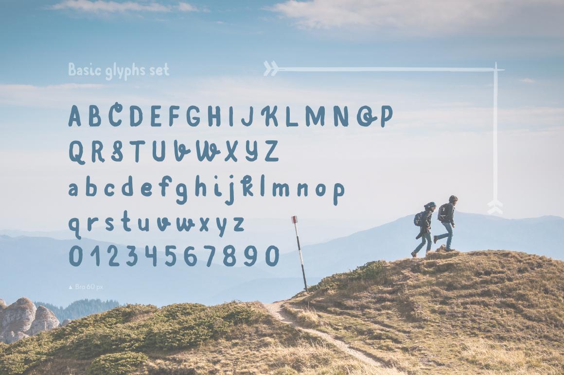 Bro—handwritten font example image 4