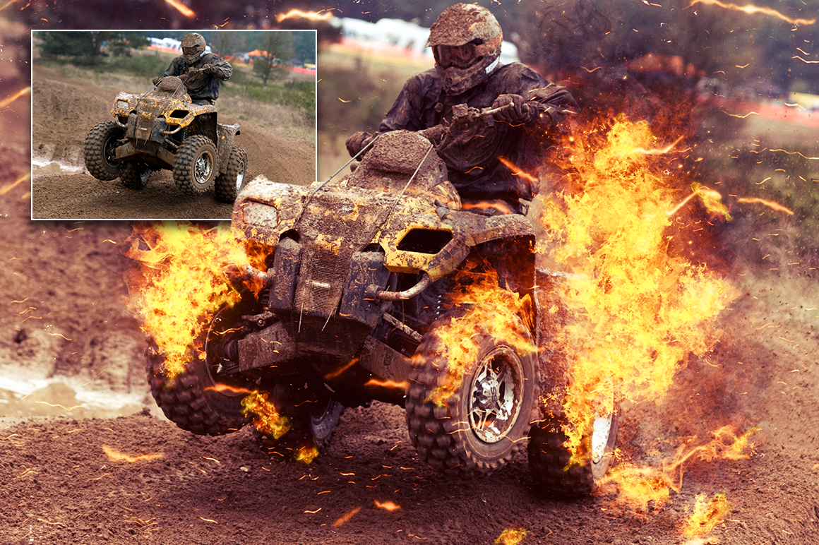 Fire Photoshop Action example image 5