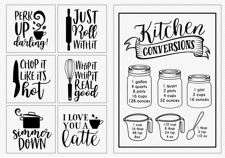 BIG Kitchen Sign Making Cut File Bundle example image 2