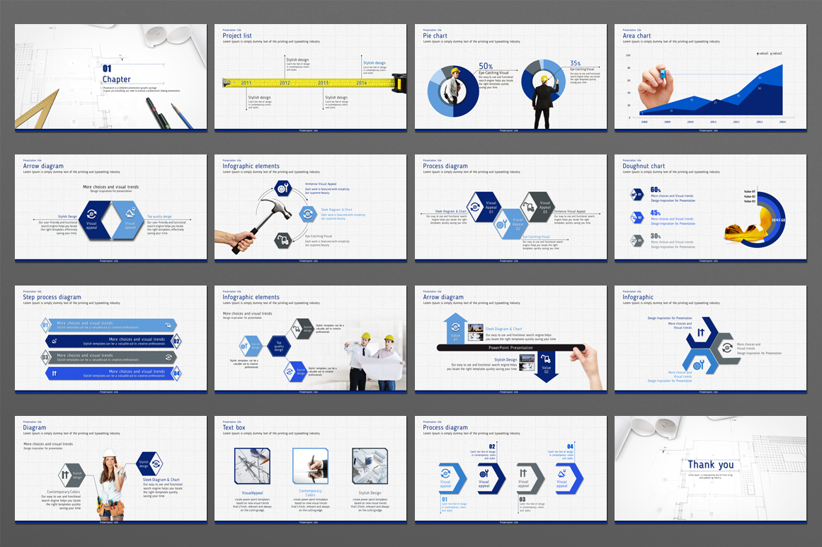 Blueprint PowerPoint Template example image 2