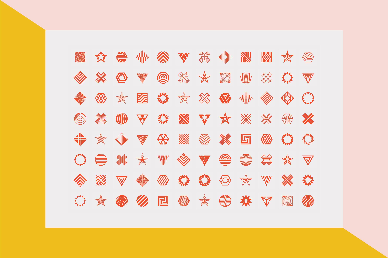 96 Geometric shapes & logo marks VOL.2 example image 18