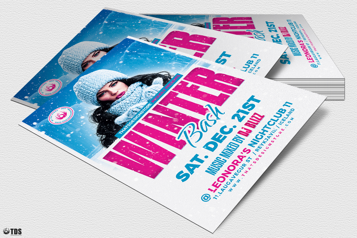 Winter Bash Flyer Template V4 example image 4