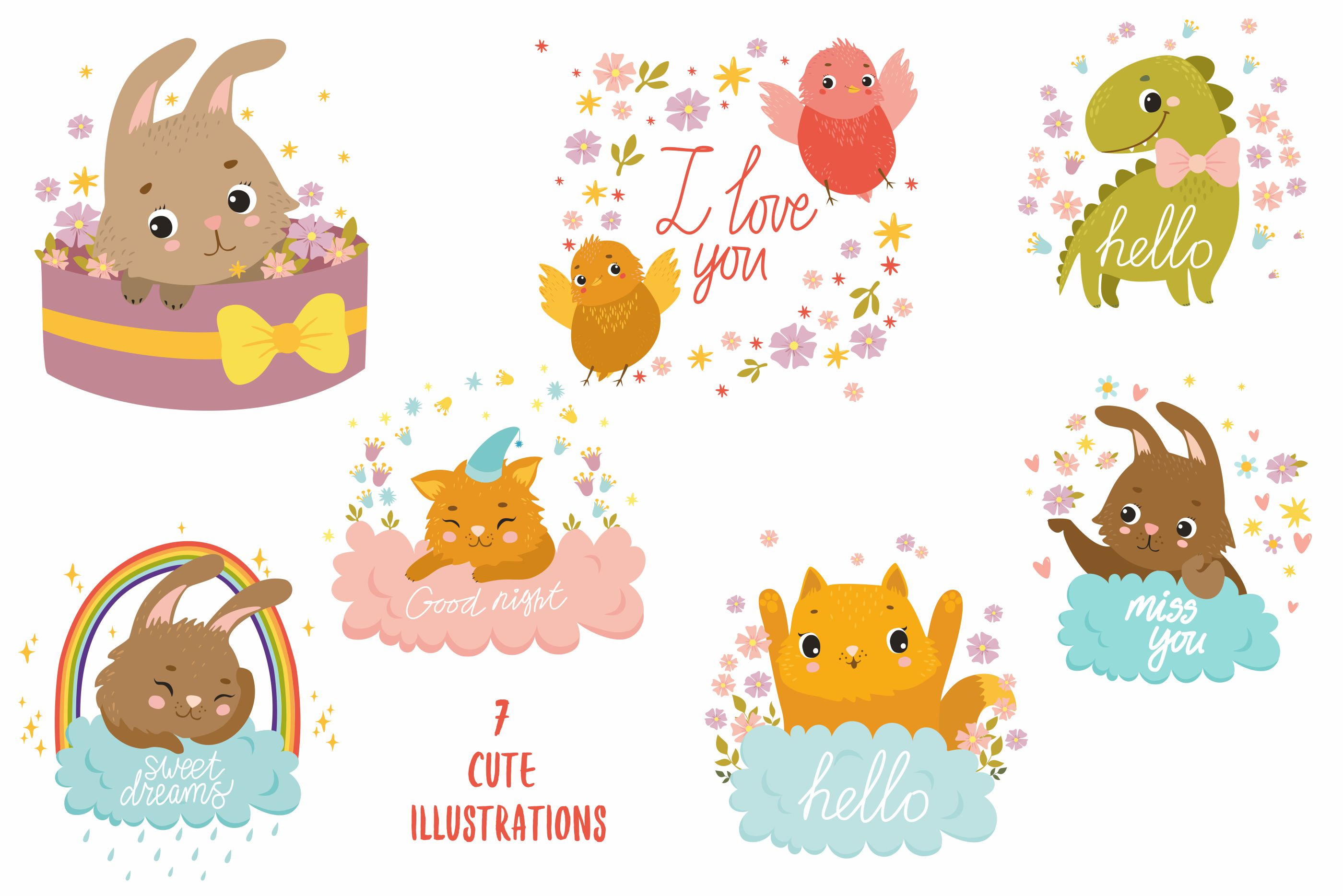 Baby Illistrations/ kid patterns example image 2