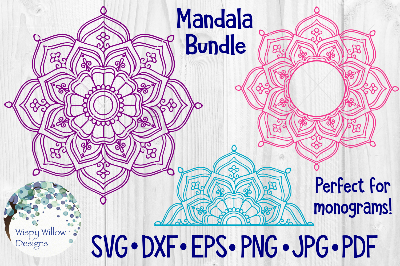 Huge Mandala Bundle | 36 SVG Cut Files example image 6