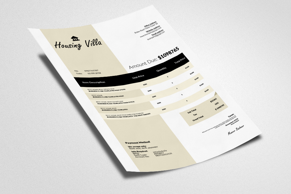 Invoice Word Template example image 3