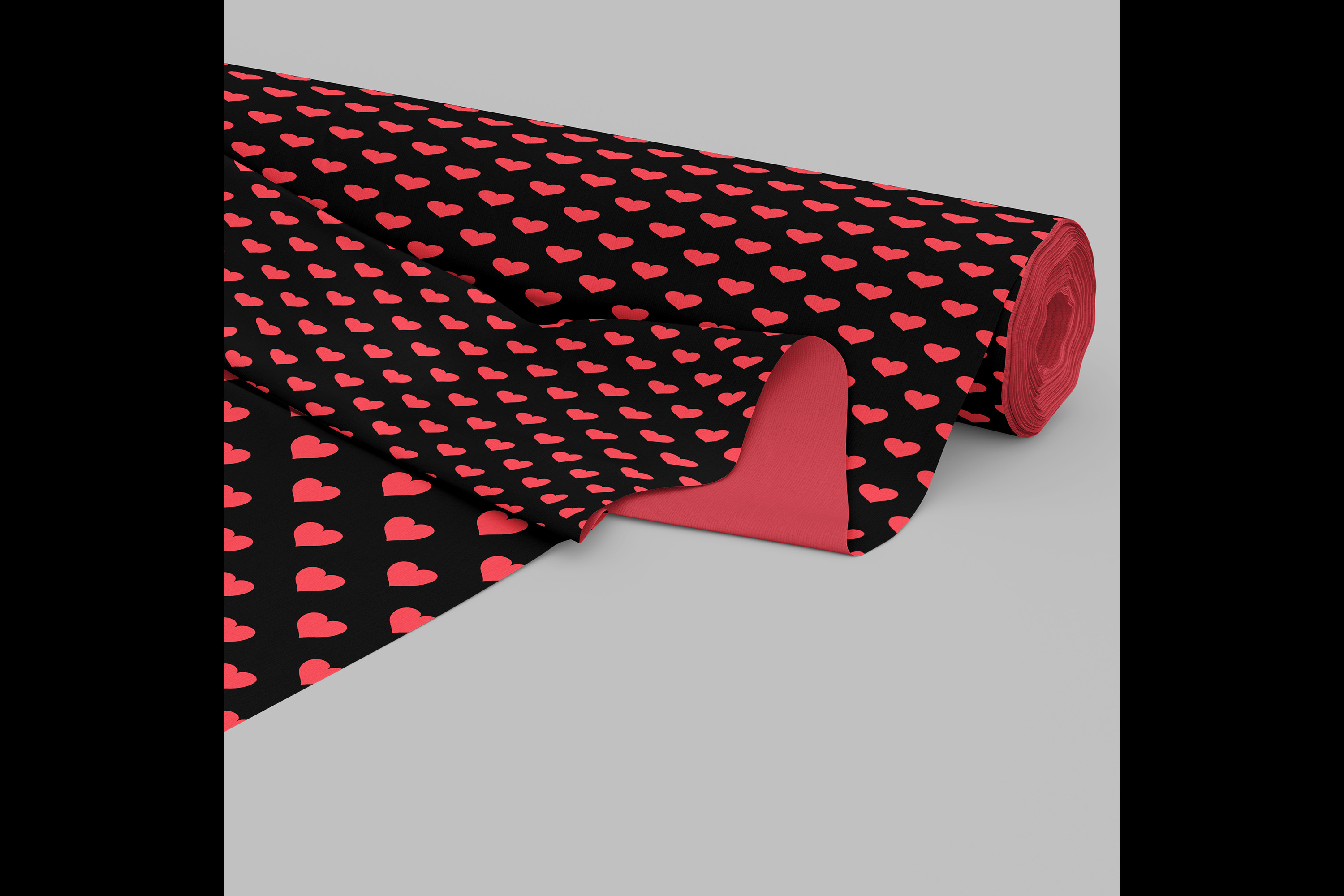 100 Seamless Black and Solid Heart Valentine Digital Papers example image 5