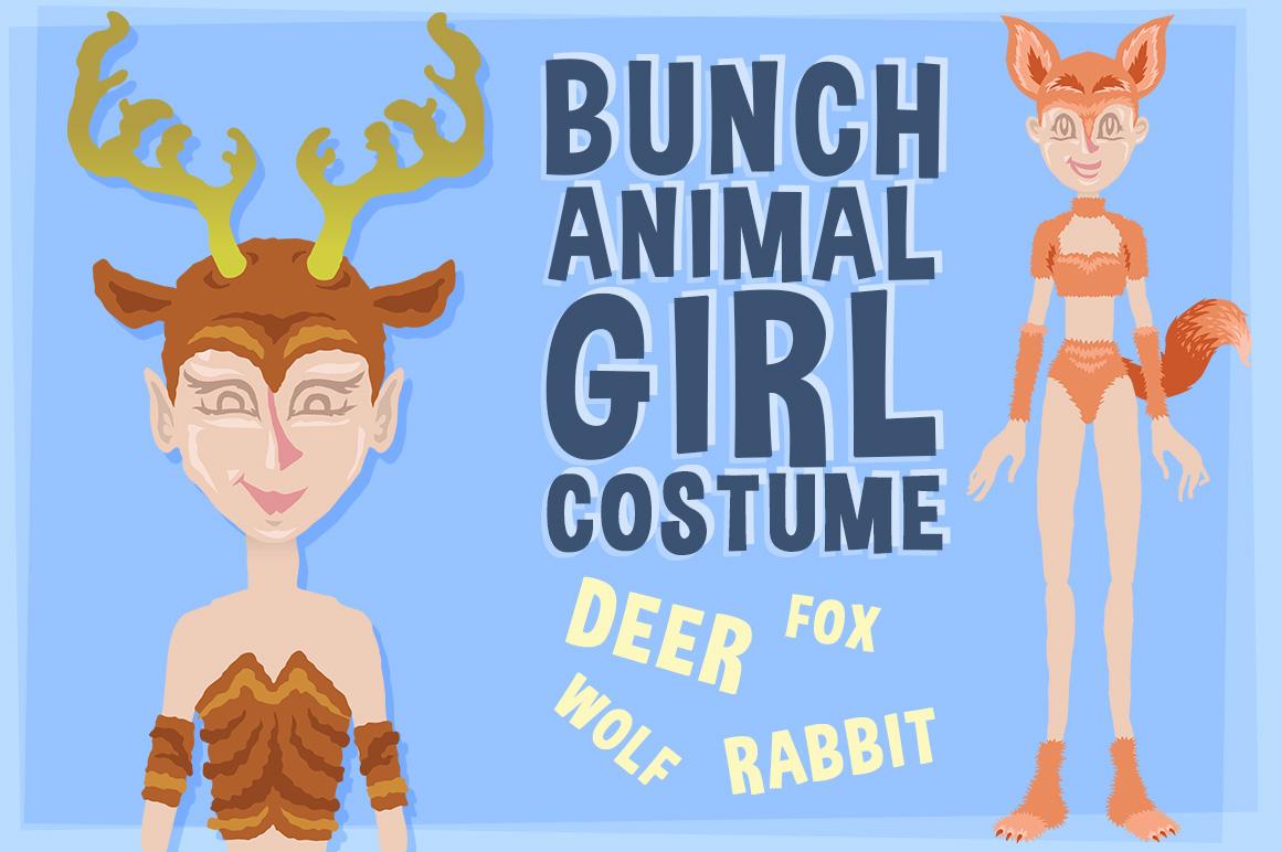 Bunch Animal Girl Costume example image 1