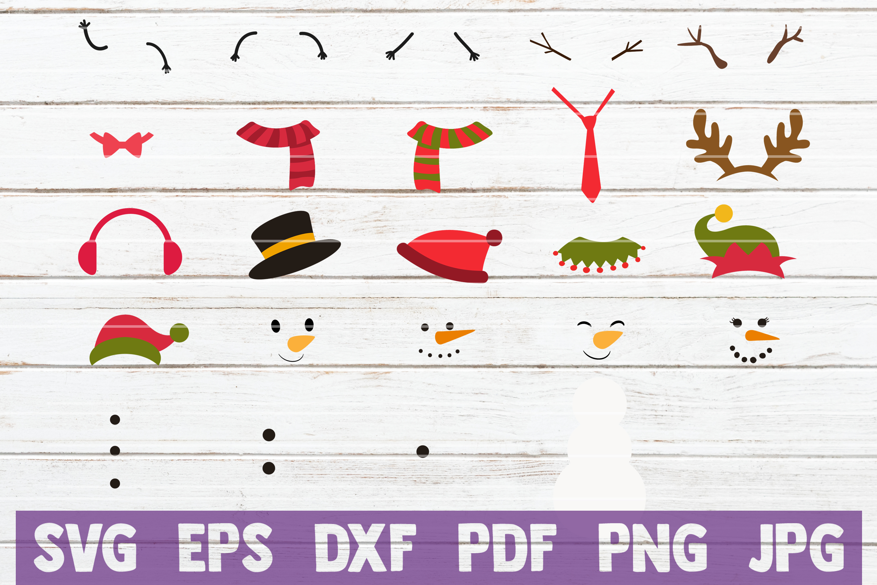 Create Your Snowman SVG Kit | SVG Cut File example image 1
