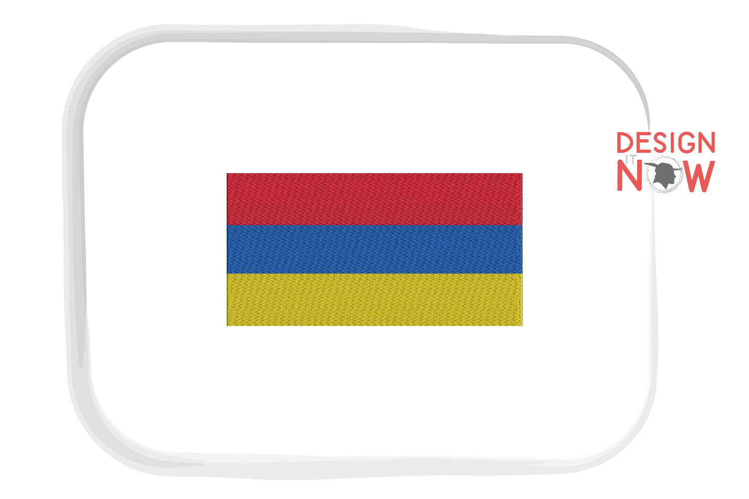 Armenia Flag Embroidery Design, Map Embroidery Design example image 1