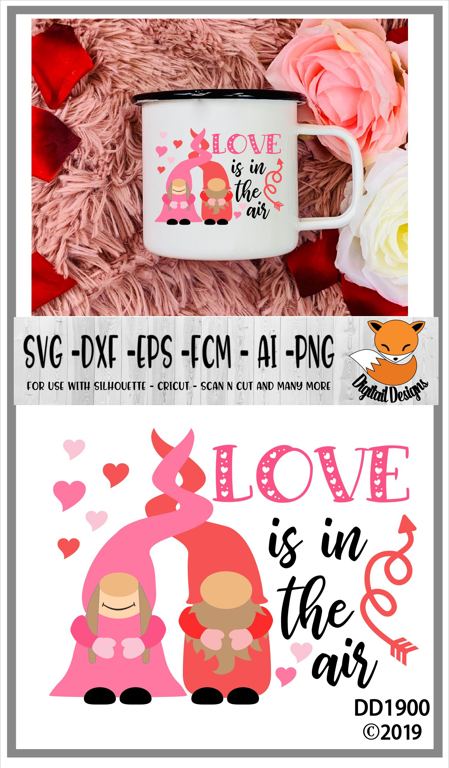 Love Is In The Air Nordic Gnome Design example image 2