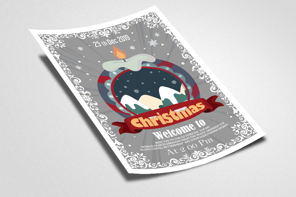 Christmas Party Night Flyer example image 2