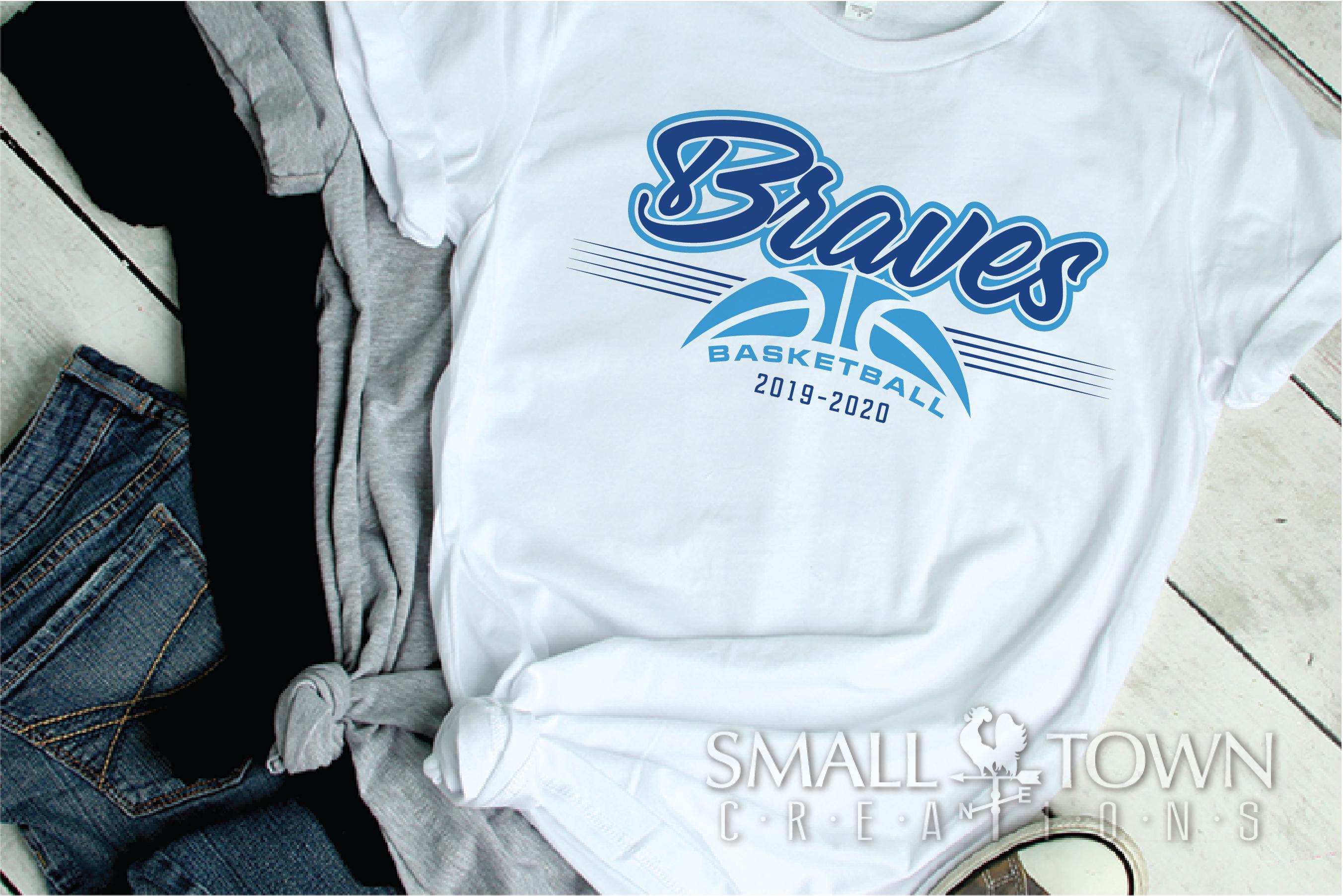 Brave, Braves Basketball, Sport, Design, PRINT, CUT, DESIGN example image 2