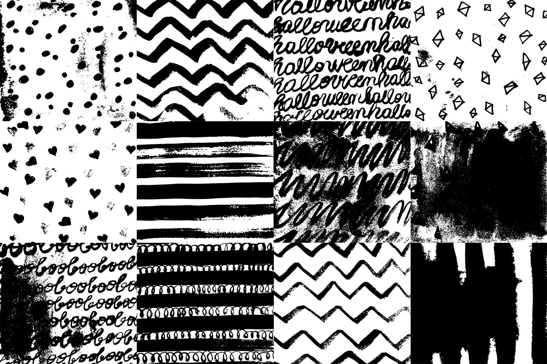 60 Black and White Patterns Bundle example image 4
