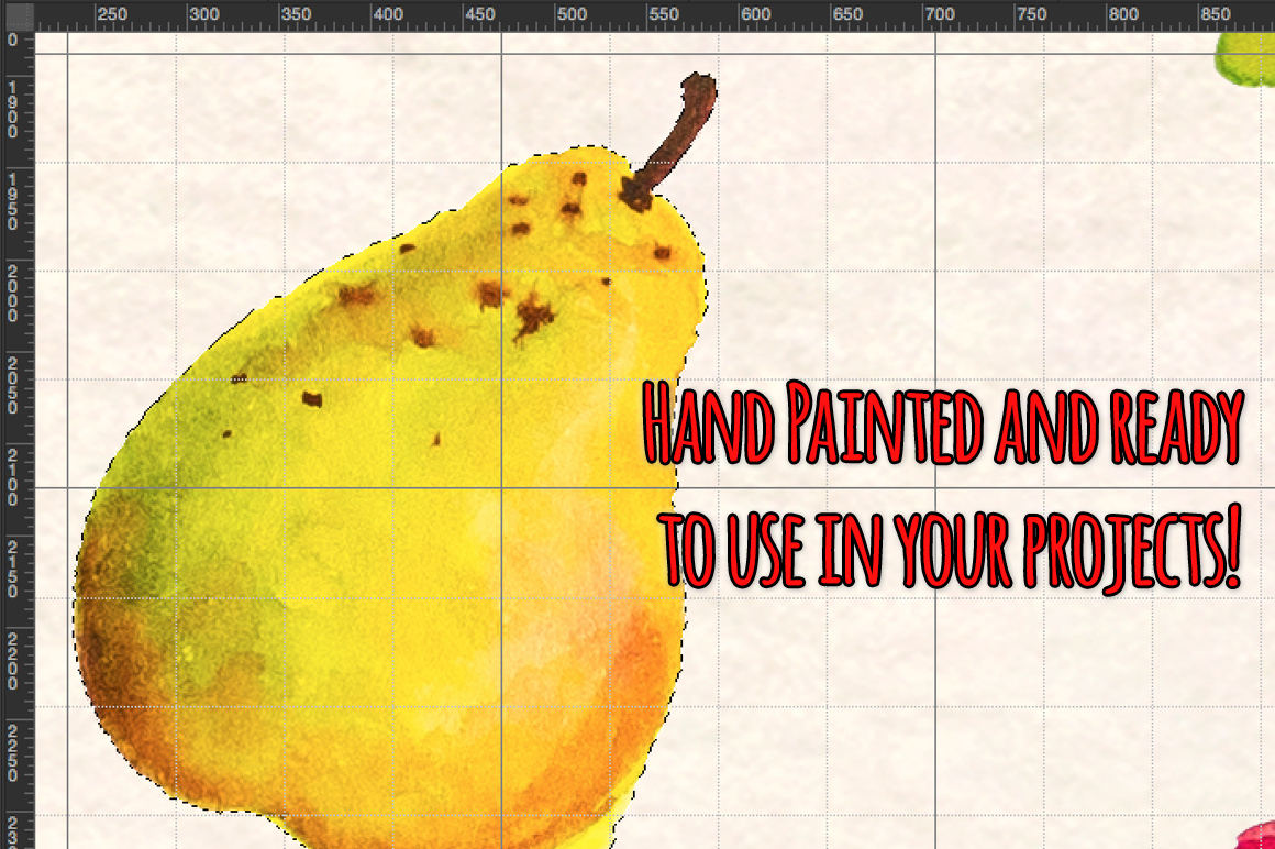 Fresh Fruits and Vegetables Watercolor Paintings Kit example image 5