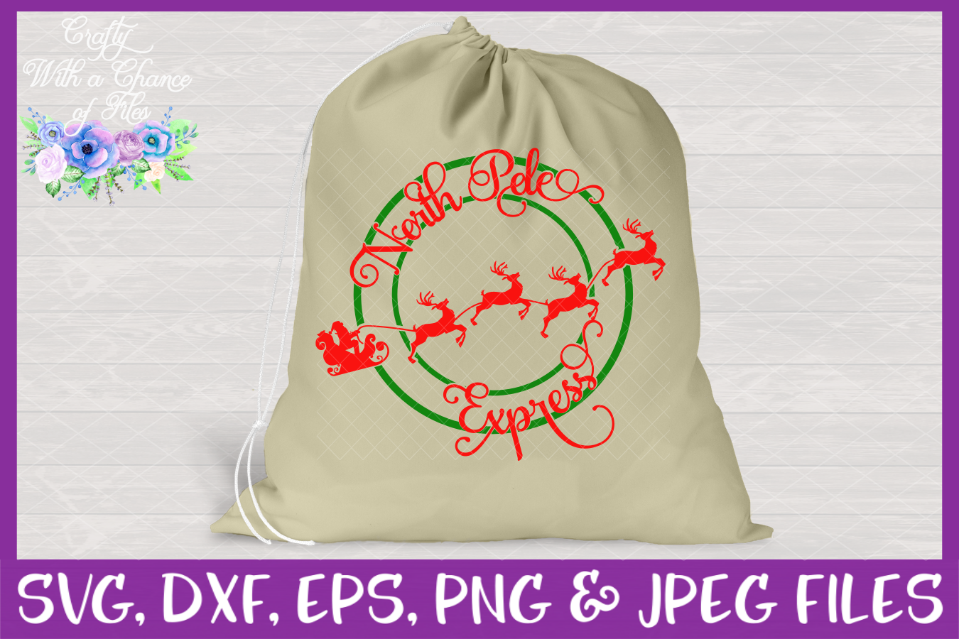 North Pole Express SVG - Christmas Design example image 3