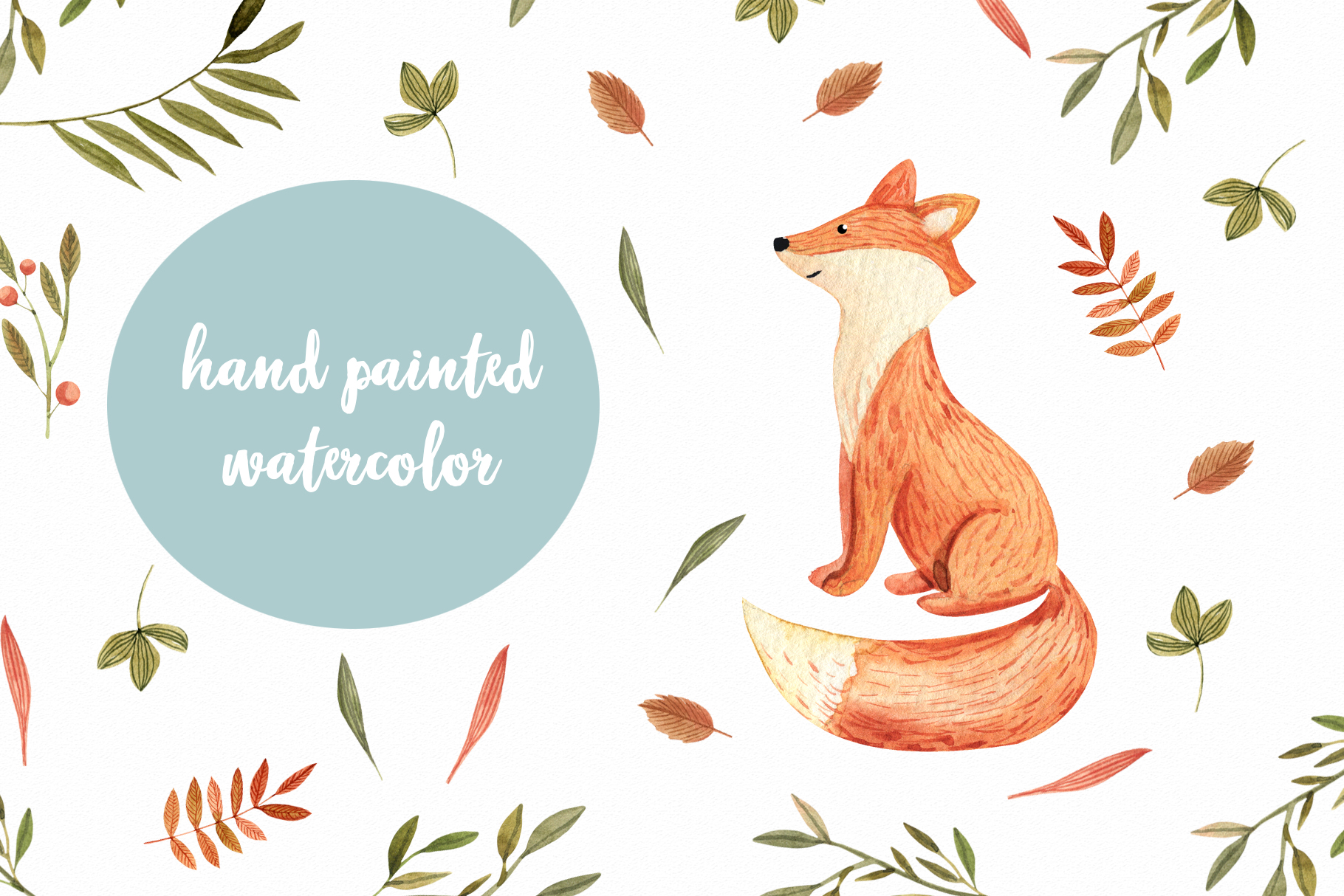 Watercolor Autumn Fox example image 6