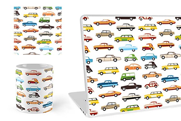 Retro cars and trains vector clipart example image 7