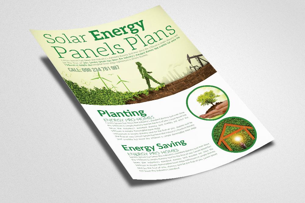 Renewable Energy - Go Green Flyer example image 3
