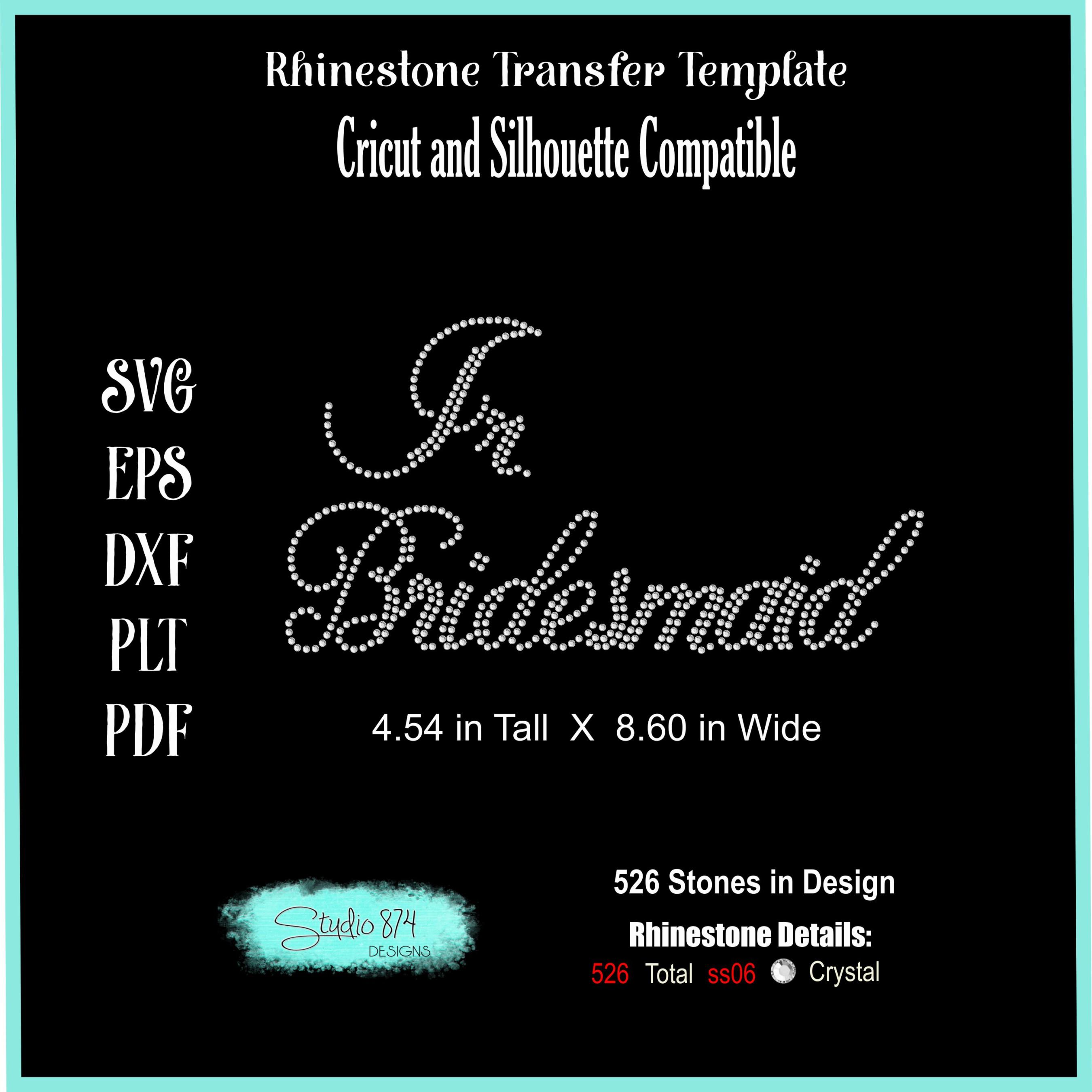 Wedding Rhinestone Template - Jr. Bridesmaid example image 2