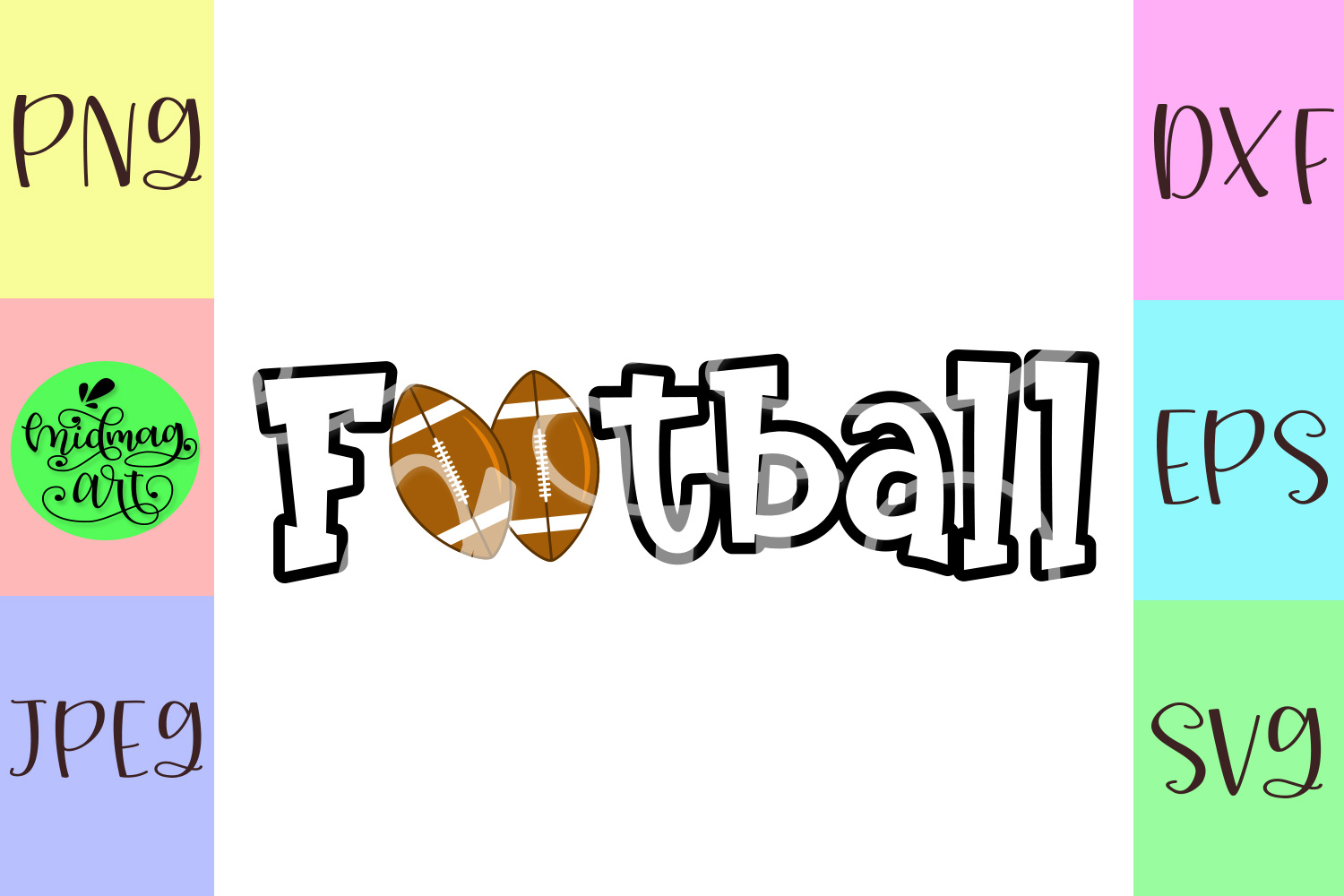 Football svg, sports svg example image 2