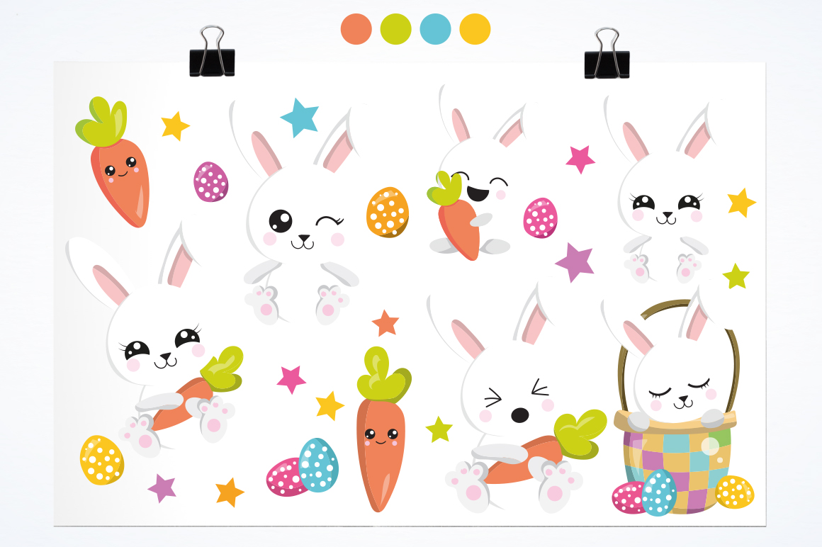 Rabbit graphic and illustrations example image 2